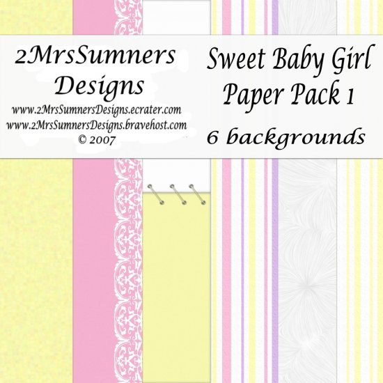 Sweet Baby Girl Paper Pack 1