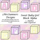 Sweet Baby Girl Block Alpha Add-On