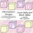 Sweet Baby Girl Block Alpha Add-On