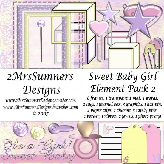 Sweet Baby Girl Element Pack 2