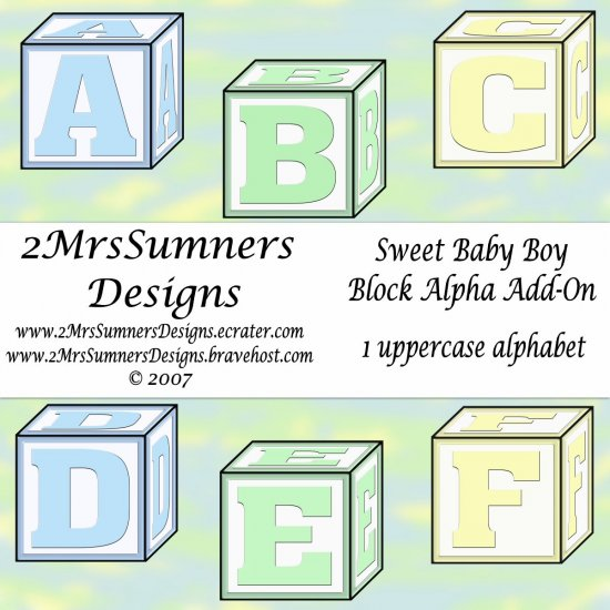 Sweet Baby Boy Block Alpha Add-On