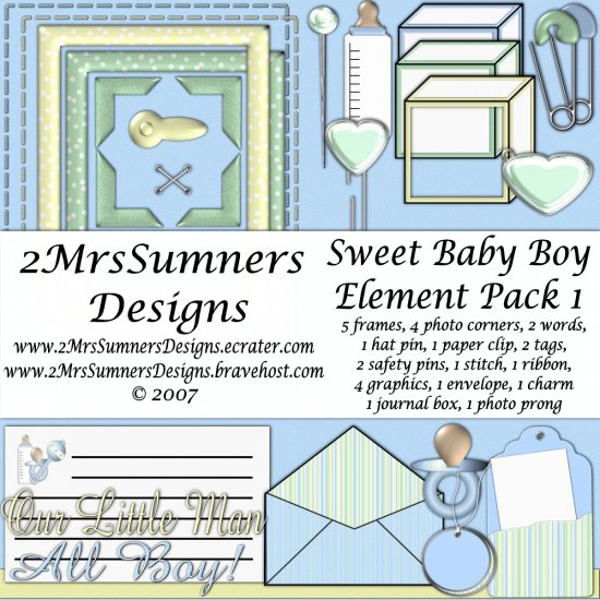Sweet Baby Boy Element Pack 1