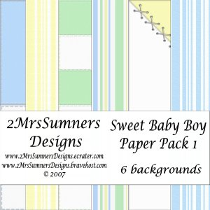 Sweet Baby Boy Paper Pack 1