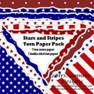 Stars and Stripes Torn Papers