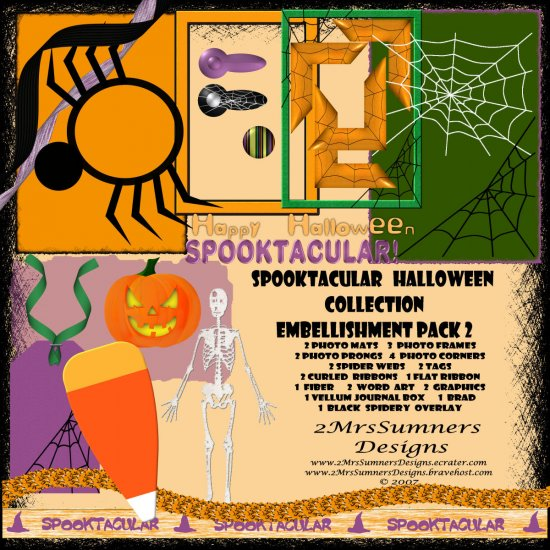 Spooktacular Halloween Collection Element Pack 2