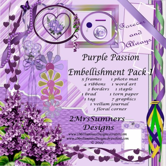 Purple Passion Element Pack 1