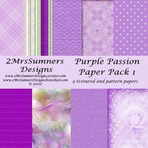 Purple Passion Paper Pack 1