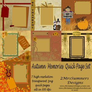 Autumn Memories Quick Page Set