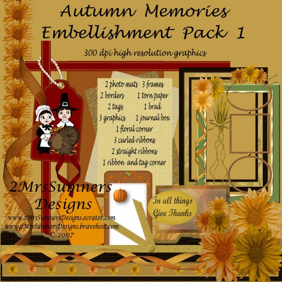 Autumn Memories Element Pack 1