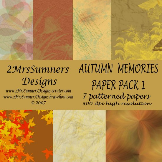 Autumn Memories Paper Pack 1