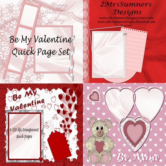 Be My Valentine Quick Page Set