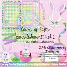 Colors of  Easter Element Pack 1