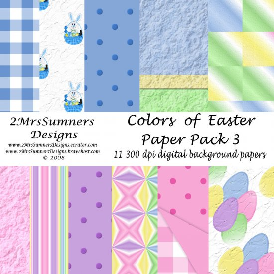 Colors of Easter Paper Pack 3