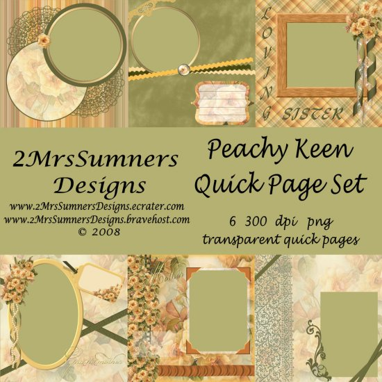 Peachy Keen Quick Page Set