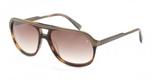 John Varvatos V767 Asian Fit Sunglasses Brown Horn