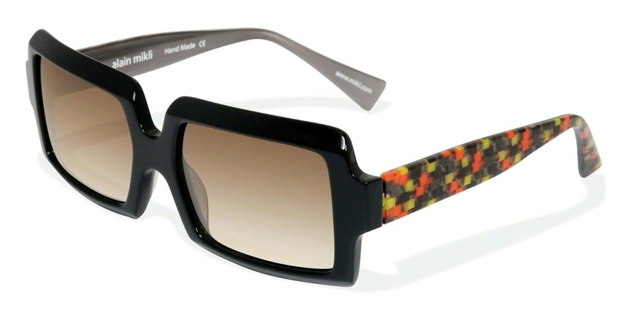 Alain Mikli 0A01315 BLACK/CHECK ORANGE GREY Sun