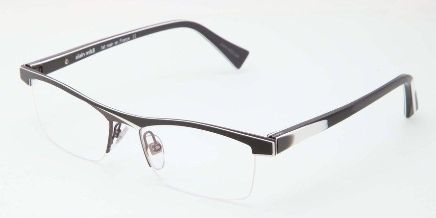 Alain Mikli 0A01297 BLACK WHITE GRAY Optical