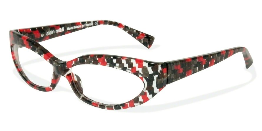 Alain Mikli 0A01237 RED BROWN GREY CHECK Optical