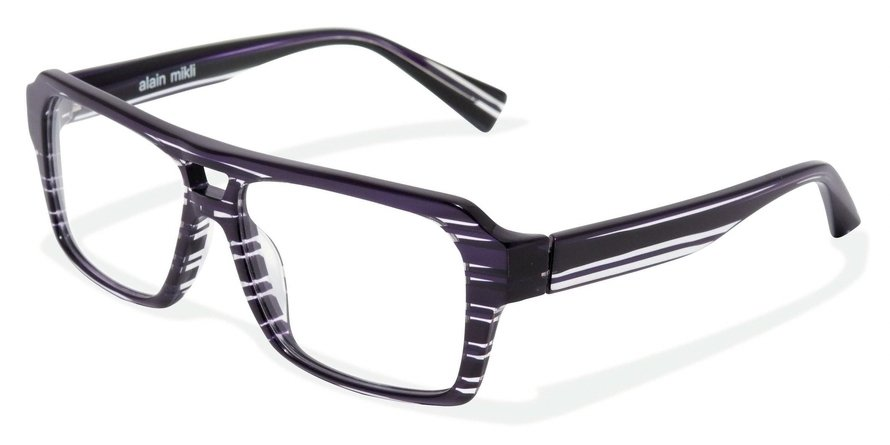 Alain Mikli 0A01214 STRIPPED PURPLE CRYSTAL Optical