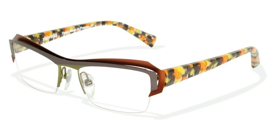 Alain Mikli 0A01202 GREY RUST OLIVE/ORA BROW CHECK Optical