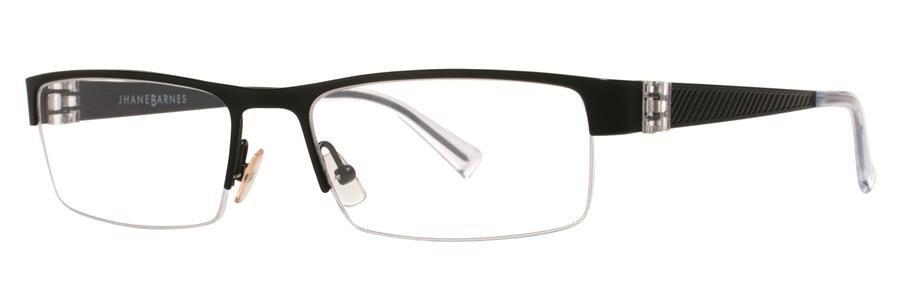Jhane Barnes ALGORITHM Black Eyeglasses Size53-17-135.00