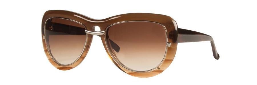 Vera Wang ALIZIA Brown Sunglasses Size56-17-135.00