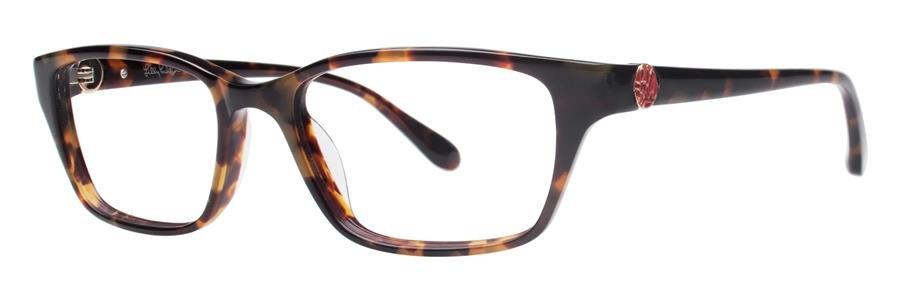 Lilly Pulitzer AMBERLY Dark Tortoise Eyeglasses Size49-16-133.00
