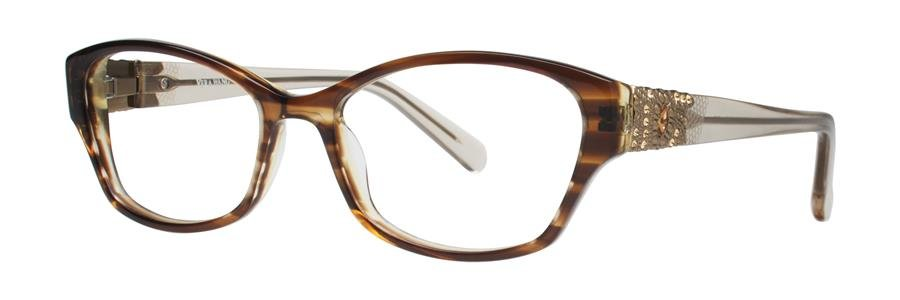 Vera Wang AUDE Brown Eyeglasses Size52-16-135.00