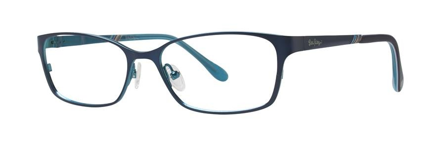Lilly Pulitzer BECKETT Navy Eyeglasses Size49-15-135.00