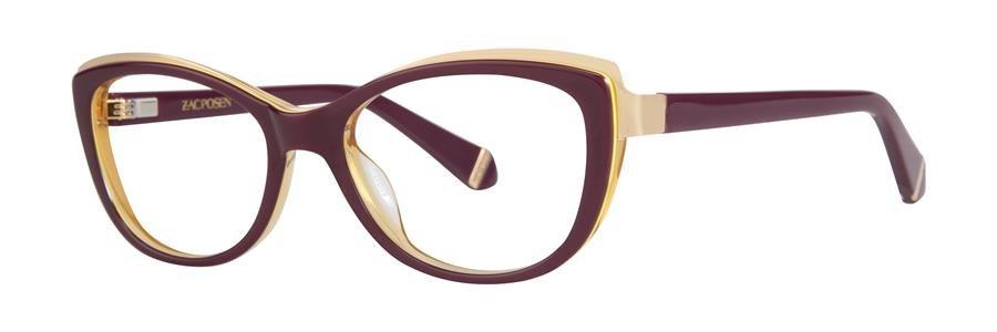 Zac Posen BENEDETTA Maroon Eyeglasses Size50-17-130.00