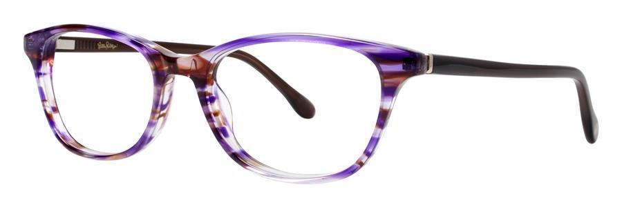 Lilly Pulitzer BRAYDON Plum Havana Eyeglasses Size51-17-135.00