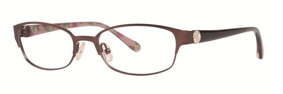 Lilly Pulitzer BRIDGIT Brown Eyeglasses Size50-17-130.00
