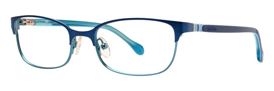 Lilly Pulitzer CAMBREY Navy Eyeglasses Size50-17-135.00