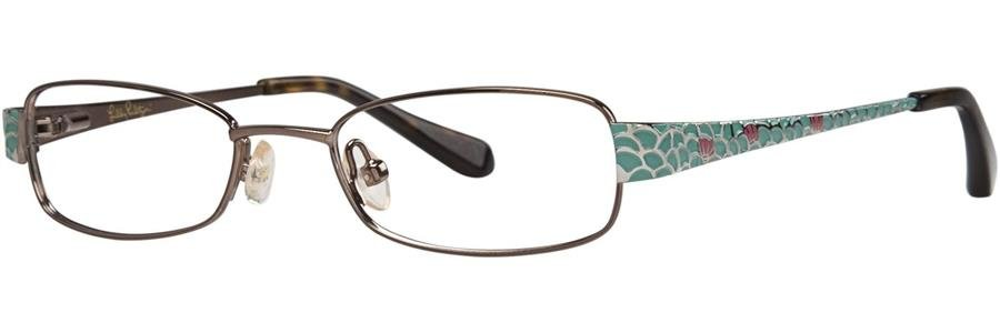 Lilly Pulitzer CAROLINA Brown Eyeglasses Size45-17-125.00
