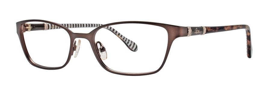 Lilly Pulitzer CHATHAM Brown Eyeglasses Size49-17-135.00
