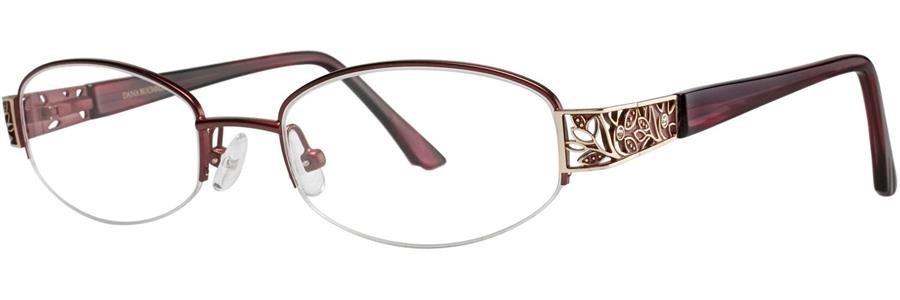 Dana Buchman CLARICE Burgundy Eyeglasses Size48-18-130.00