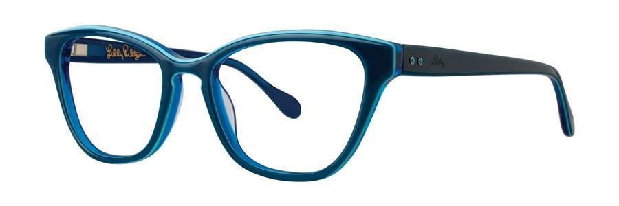 Lilly Pulitzer COPELAND Teal Eyeglasses Size50-17-135.00