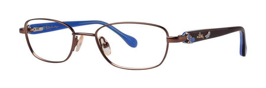 Lilly Pulitzer CORALINE Brown Eyeglasses Size45-16-120.00