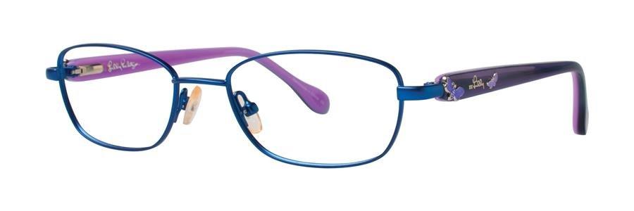 Lilly Pulitzer CORALINE Navy Eyeglasses Size47-16-125.00