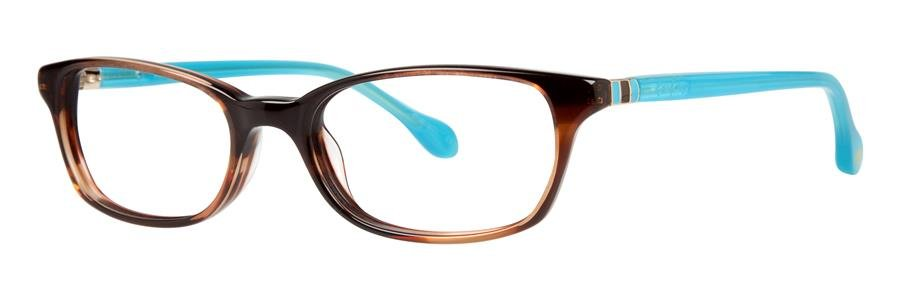 Lilly Pulitzer DAENA Tort Aqua Eyeglasses Size50-17-135.00