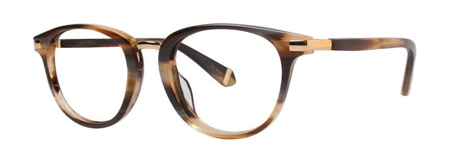 Zac Posen DAYLE Brown Horn Eyeglasses Size48-20-135.00