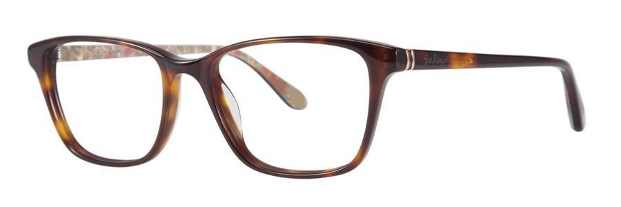 Lilly Pulitzer DELFINA Tortoise Eyeglasses Size49-16-135.00