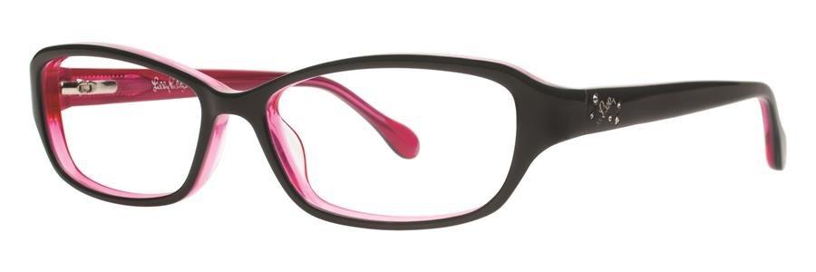 Lilly Pulitzer DELILA Black Eyeglasses Size50-14-135.00