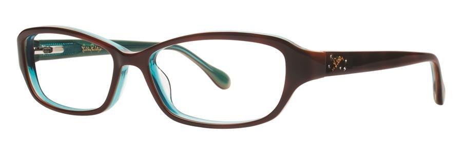 Lilly Pulitzer DELILA Havana Eyeglasses Size50-14-135.00
