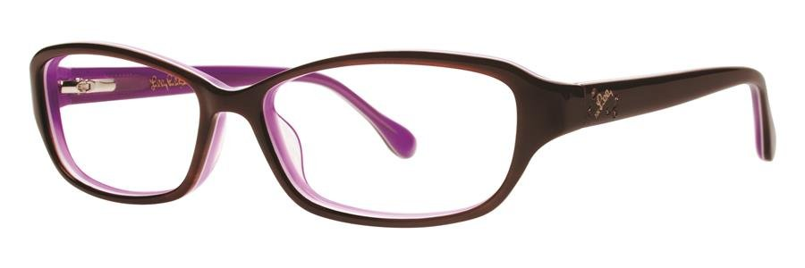 Lilly Pulitzer DELILA Tortoise Purple Eyeglasses Size52-14-135.00