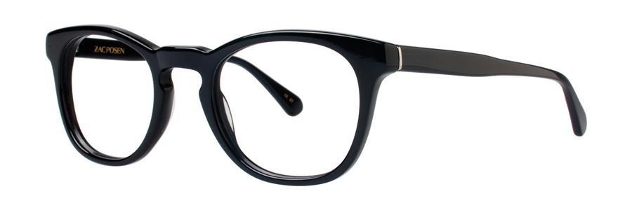 Zac Posen DIRECTOR Black Eyeglasses Size49-22-140.00