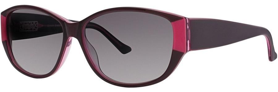 kensie DRESS ME UP Burgundy Sunglasses Size57-13-140.00