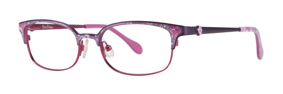 Lilly Pulitzer EFFIE Purple Eyeglasses Size48-16-130.00