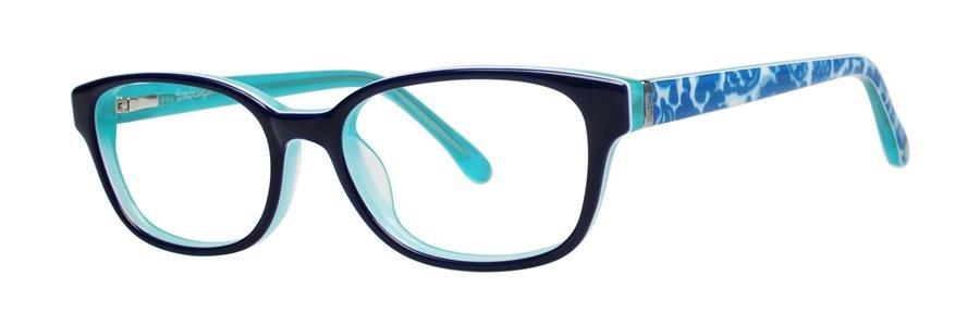 Lilly Pulitzer EMMA Navy Aqua Eyeglasses Size48-16-130.00