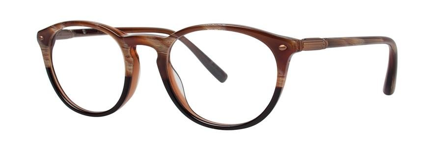 Zac Posen ERUDITE Brown Horn Gradient Eyeglasses Size48-19-140.00